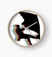 Climber in overhang. Design psychedelic Clock