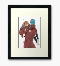 galaxy's best dad Framed Print