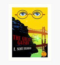 Retro The Great Gatsby Travel Poster Art Print