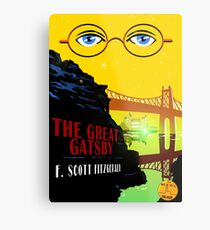Retro The Great Gatsby Travel Poster Metal Print
