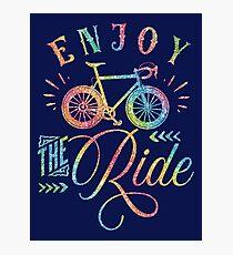 Enjoy The Ride Faux Rainbow Glitter Photographic Print