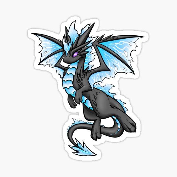 Blue Lightning Dragon Sticker
