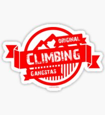 Original climbing gangstas Sticker