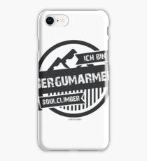 Ich bin Bergumarmer - Kletterer - Boulderer iPhone Case/Skin