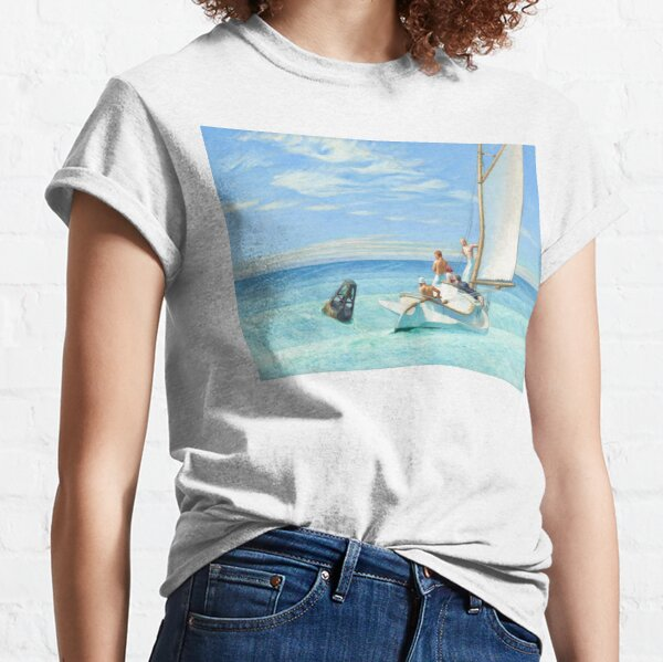 Ground Swell Oil Painting by Edward Hopper Classic T-Shirt