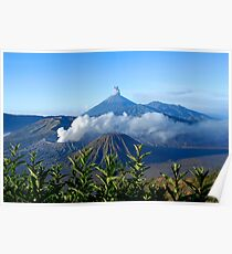 Mount Bromo, an active volcano in East Java. Poster
