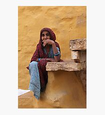 Indian Lady Photographic Print