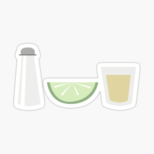 Salt Lime Tequila Sticker
