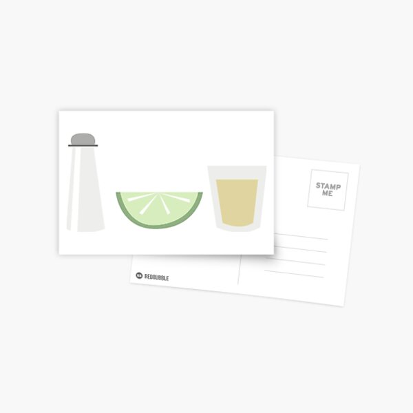 Salt Lime Tequila Postcard