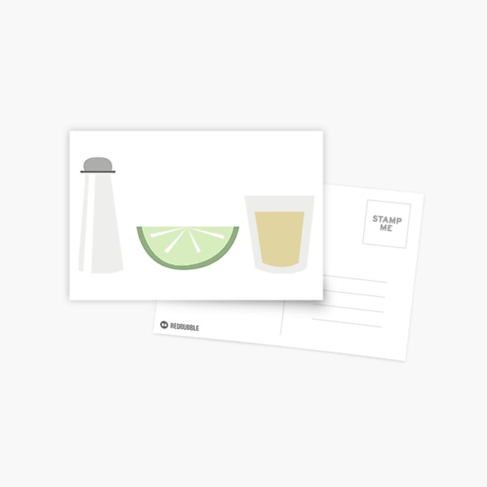 Salt Lime Tequila Postcard