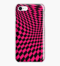Pink psychadelic checkerbox iPhone Case/Skin