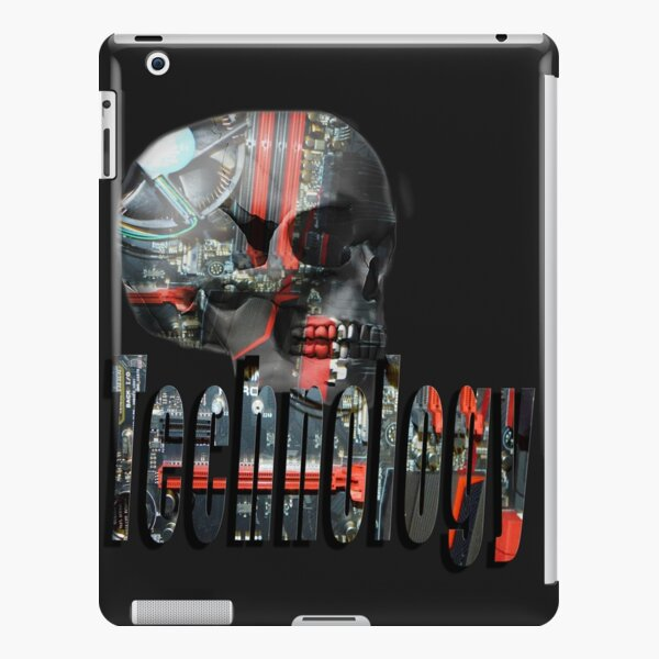 Skull Full Of Computer Brains And Technology Logo iPad Snap Case