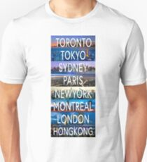 City compilation! Best city bumper sticker! Unisex T-Shirt