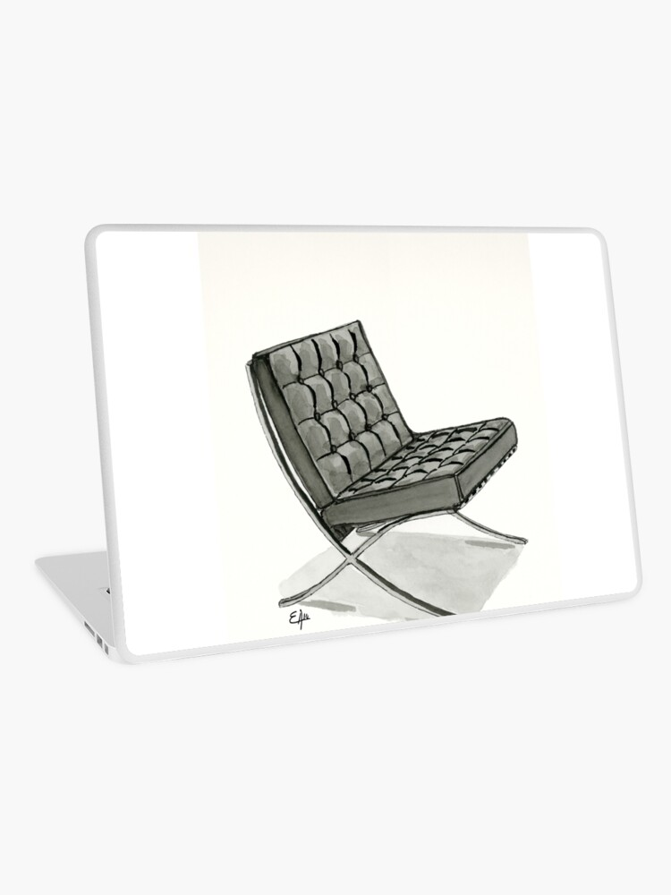 Excellent Barcelona Chair Watercolor Painting Laptop Skin Ibusinesslaw Wood Chair Design Ideas Ibusinesslaworg