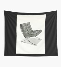Barcelona chair - Watercolor Painting  Wall Tapestry