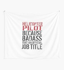 Badass Helicopter Pilot Wall Tapestry
