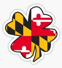 MD Flag Four Leaf Clover Sticker