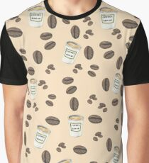 Coffee Break Pattern Graphic T-Shirt