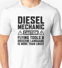 Diesel Mechanic Flying Tools Unisex T-Shirt