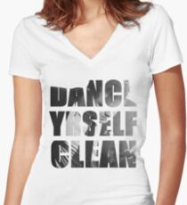 Dance Yrself Clean Women's Fitted V-Neck T-Shirt