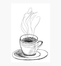 Coffee in a demitasse Photographic Print