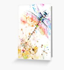 Colorful dragonfly Greeting Card