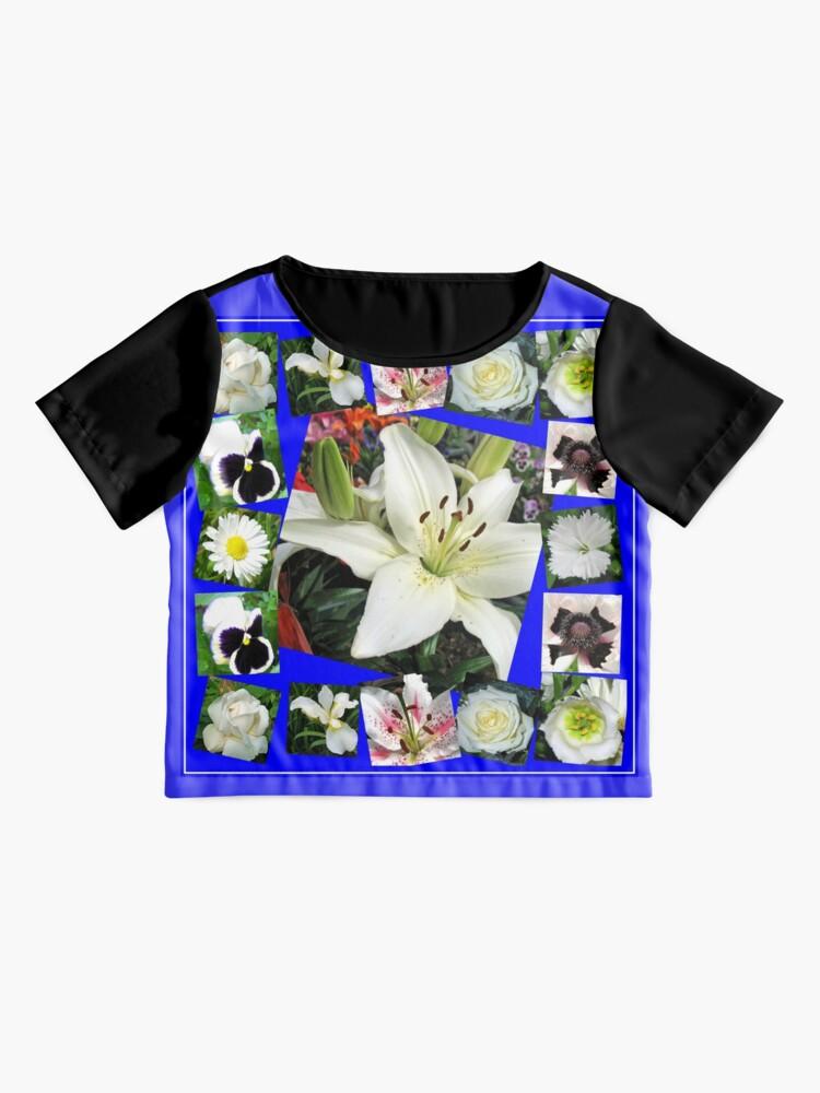 Alternative Ansicht von White Delight - Summer Flowers Collage Chiffon Top