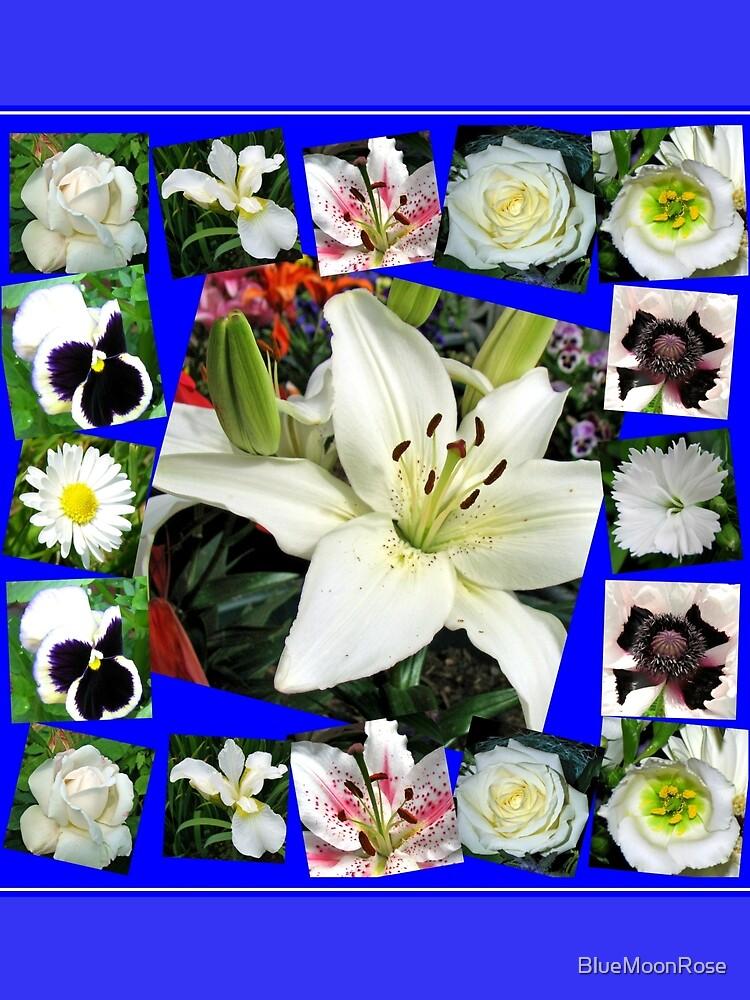 White Delight - Summer Flowers Collage von BlueMoonRose