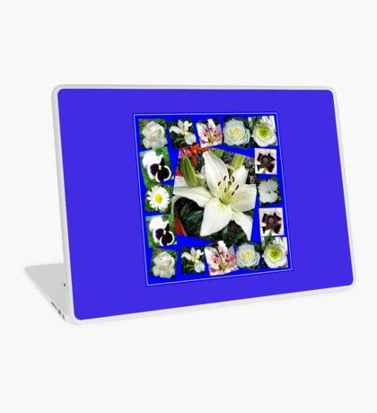 White Delight - Summer Flowers Collage Laptop Skin