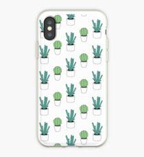 Green Cactus Print iPhone Case
