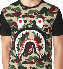 camo shark Graphic T-Shirt