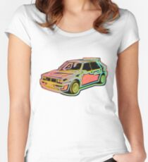 Neon Lancia Delta Women's Fitted Scoop T-Shirt