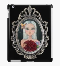 Two Roses in Silver Frame iPad Case/Skin