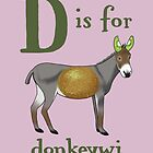 D is for Donkeywi by veronicafannin