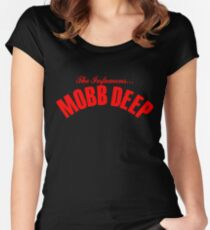 THE INFAMOUS MOBB DEEP - BLOOD RED Women's Fitted Scoop T-Shirt