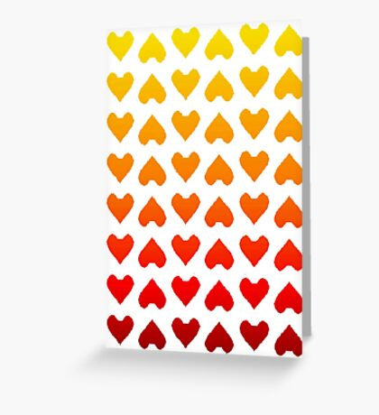 Cascading Hearts Greeting Card