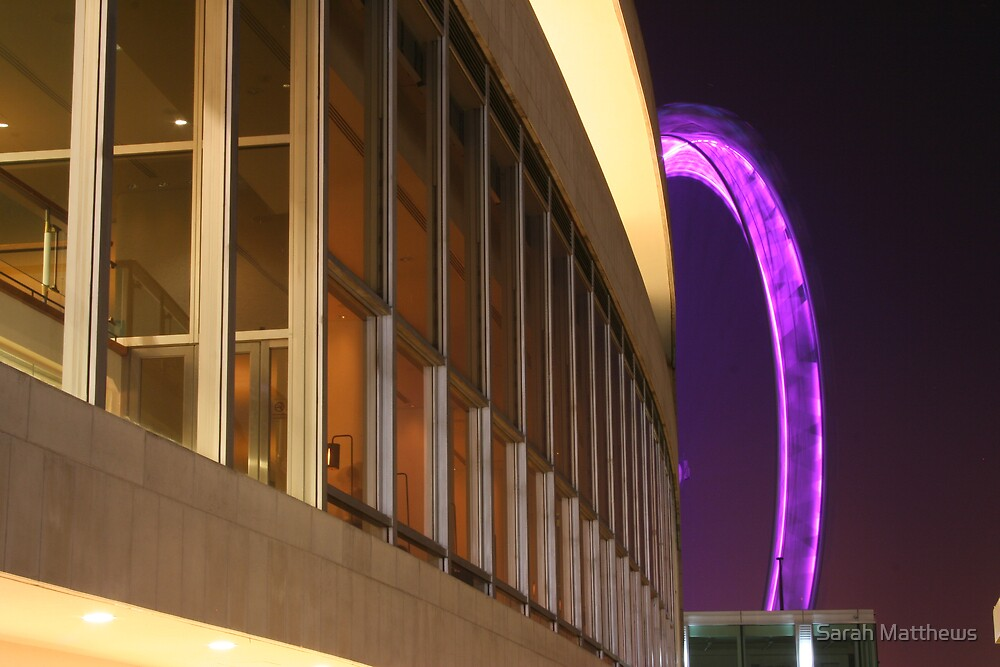 Royal Festival Hall and the Pink Wheel  by Sarah Matthews