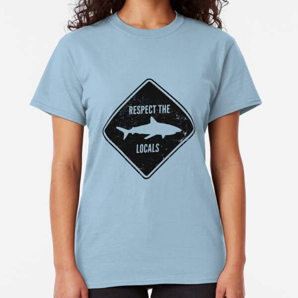 Respect The Locals - Shark Diving Classic T-Shirt