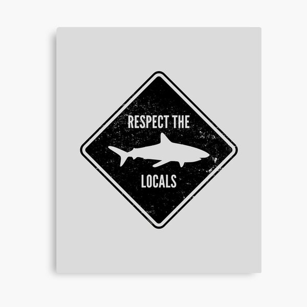 Respect The Locals - Shark Diving Canvas Print