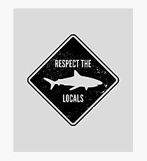 Respect The Locals - Shark Diving Photographic Print