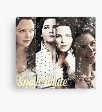 Once Upon A Time - Snow White collage Canvas Print