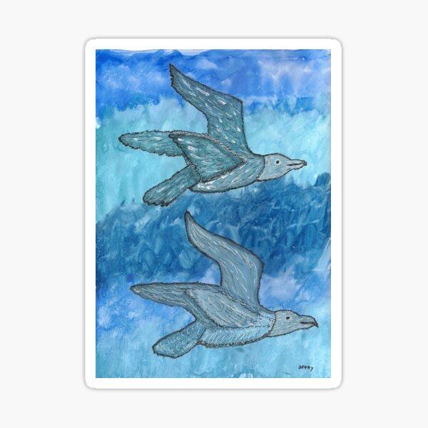 Gulls In Flight Sticker