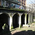 St Cuthberts: the graves below the road by Yonmei