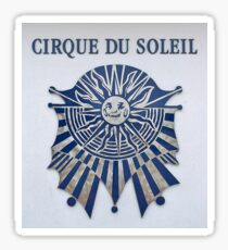 Cirque du soleil emblem Blue and sliver  Sticker