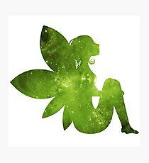 Sitting Green Fairy Photographic Print