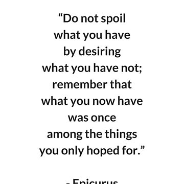 EPICURUS STOIC PHILOSOPHY QUOTE by IdeasForArtists