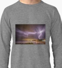 Lightning over Wollongong City Beach Lightweight Sweatshirt