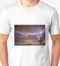 Lightning over Wollongong City Beach Unisex T-Shirt