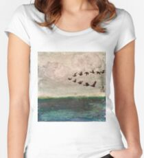Flying V of Geese Women's Fitted Scoop T-Shirt