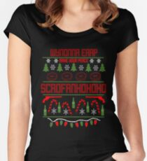ScroFANhohoho Not so Ugly Christmas Sweater Women's Fitted Scoop T-Shirt
